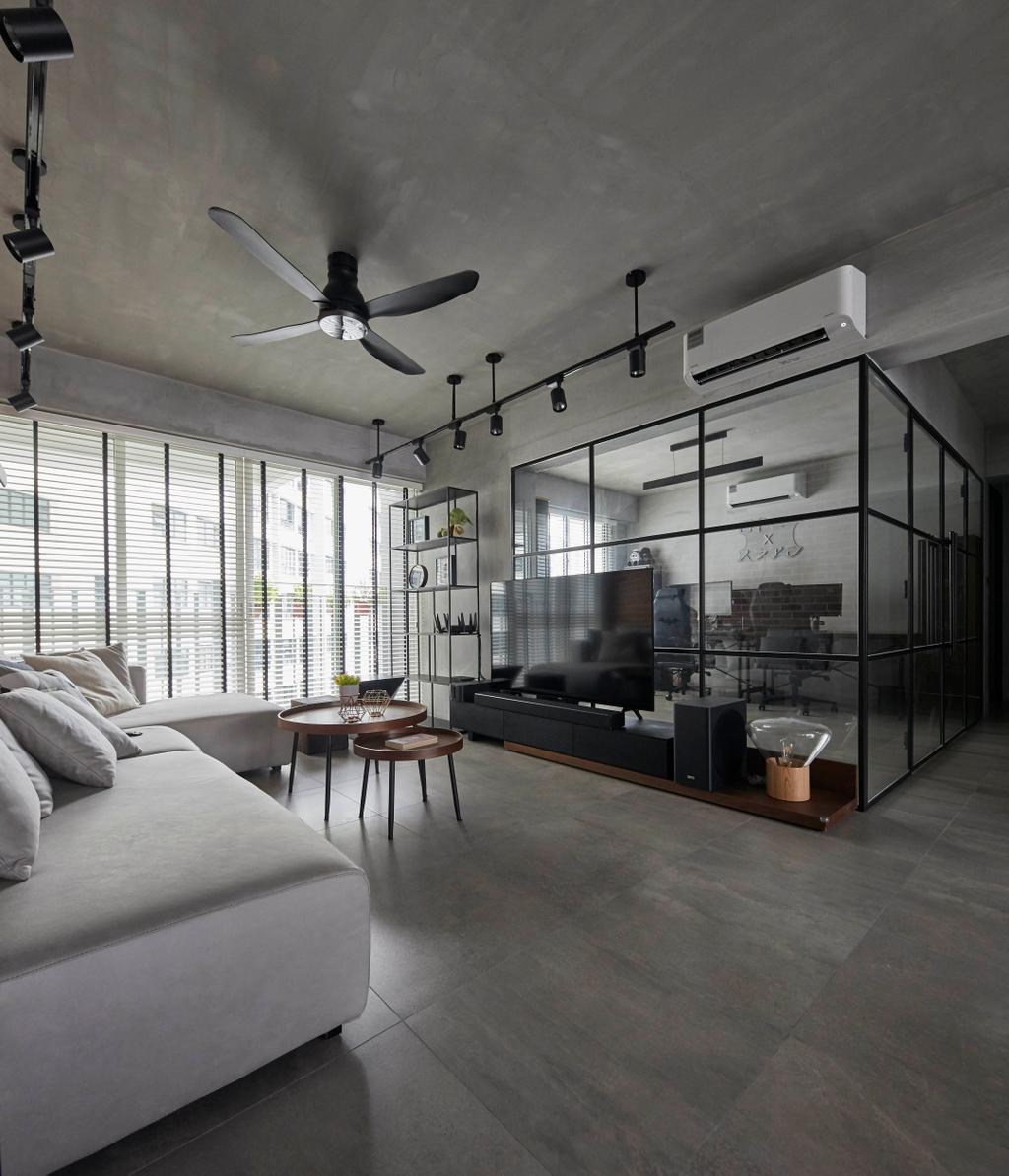 Industrial, HDB, Punggol Sapphire, Interior Designer, The Interior Lab, Contemporary