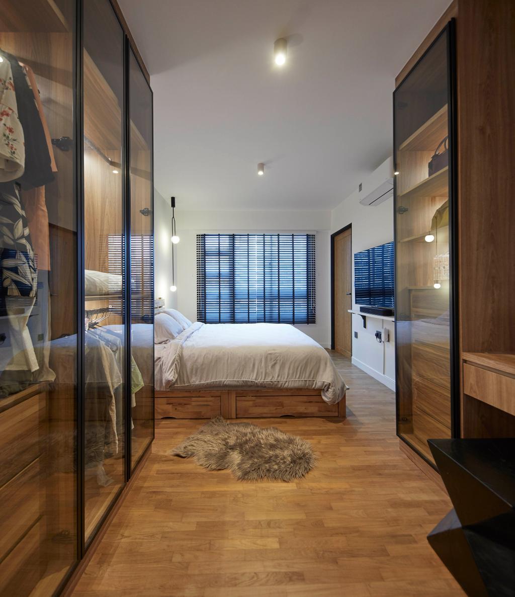 Industrial, HDB, Bedroom, Punggol Sapphire, Interior Designer, The Interior Lab, Contemporary