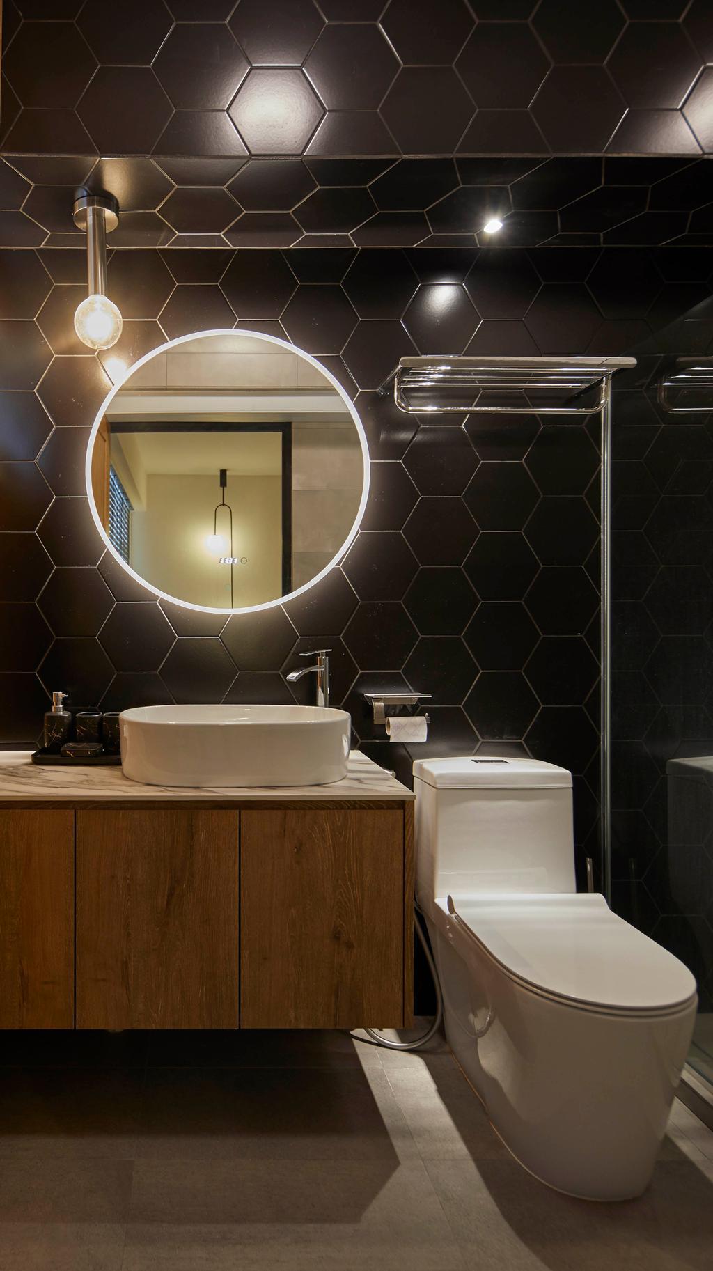 Industrial, HDB, Bathroom, Punggol Sapphire, Interior Designer, The Interior Lab, Contemporary