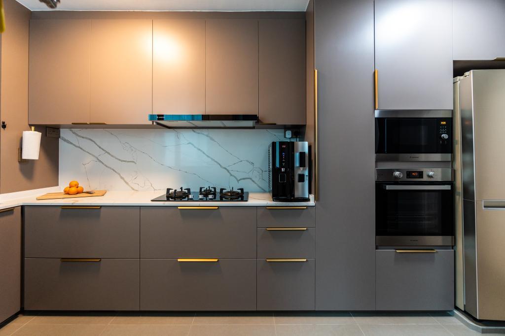 Modern, HDB, Kitchen, Punggol Central, Interior Designer, Absolook Interior Design
