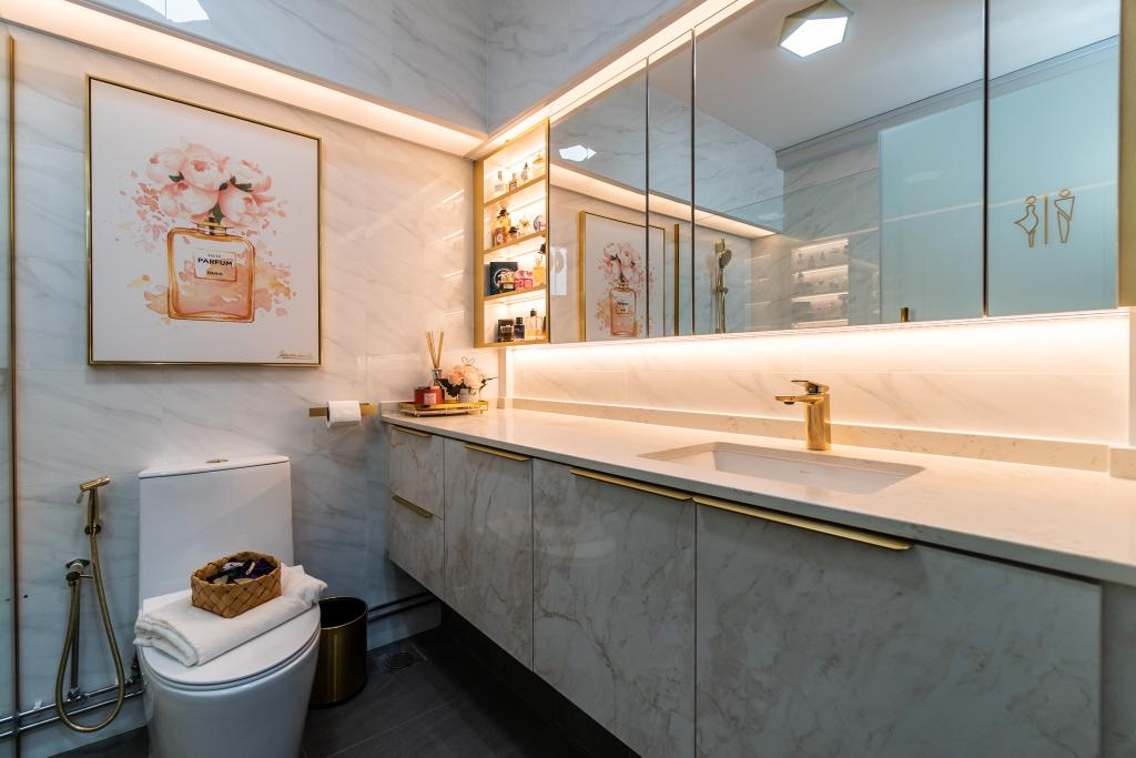 Modern, HDB, Bathroom, Punggol Central, Interior Designer, Absolook Interior Design
