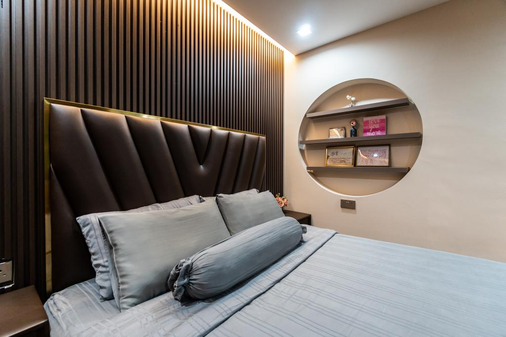 Modern, HDB, Bedroom, Punggol Central, Interior Designer, Absolook Interior Design