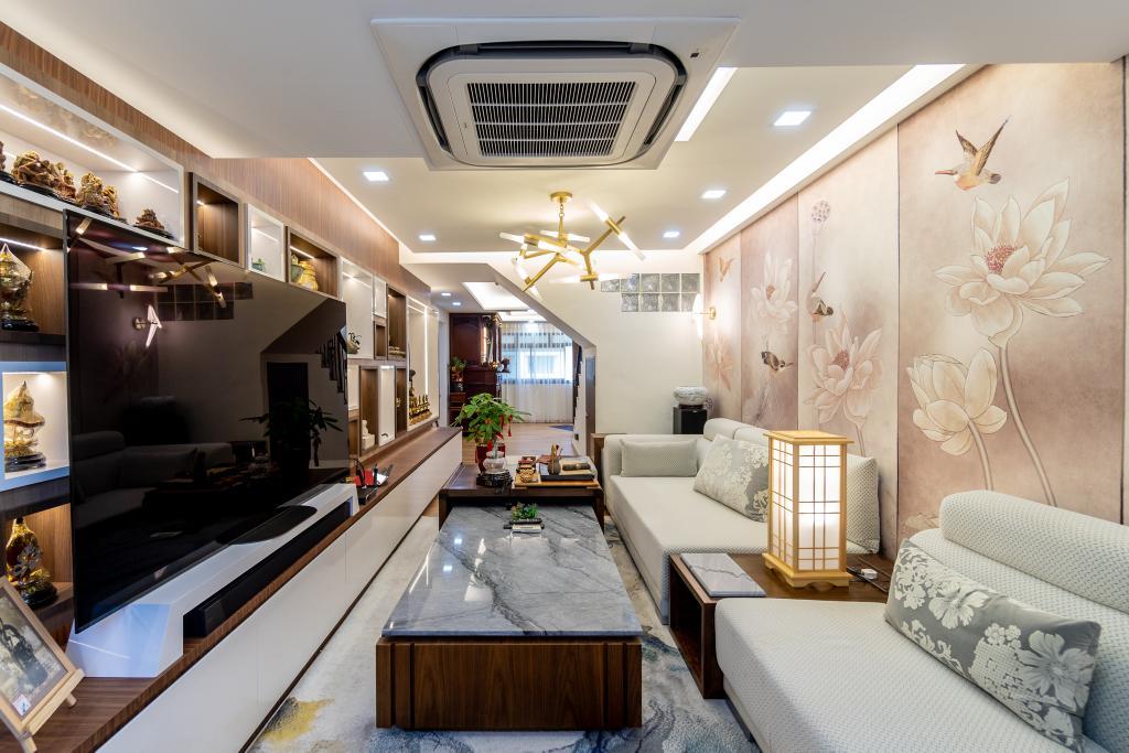 Transitional, HDB, Living Room, Woodlands Ring Road, Interior Designer, Absolook Interior Design