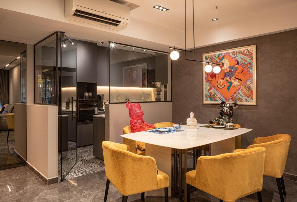 Modern, HDB, Dining Room, Punggol Way, Interior Designer, Absolook Interior Design, Contemporary