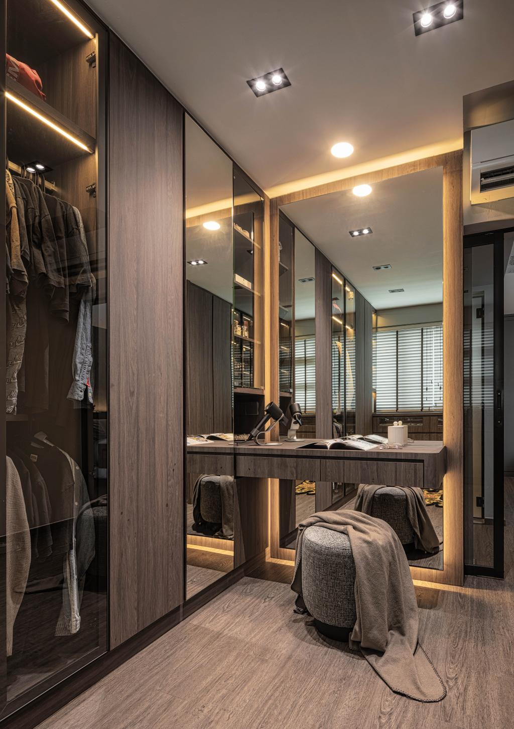 Modern, HDB, Bedroom, Punggol Way, Interior Designer, Absolook Interior Design, Contemporary
