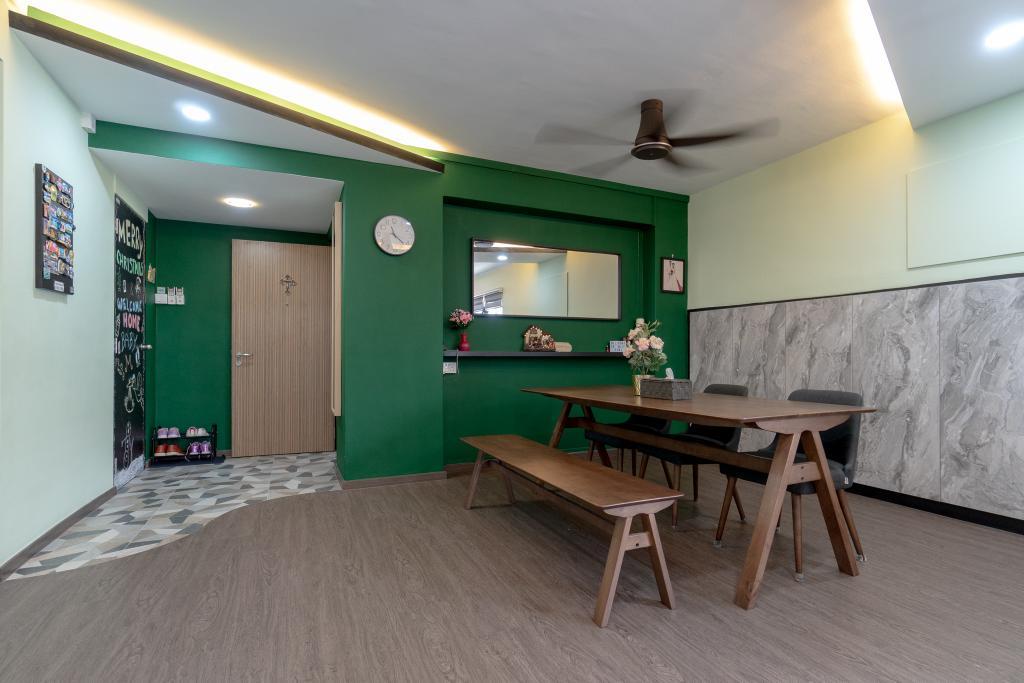 Modern, HDB, Tampines Street 43, Interior Designer, Absolook Interior Design, Industrial