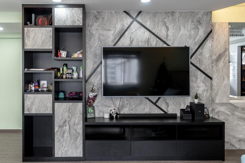 Modern, HDB, Living Room, Tampines Street 43, Interior Designer, Absolook Interior Design, Industrial