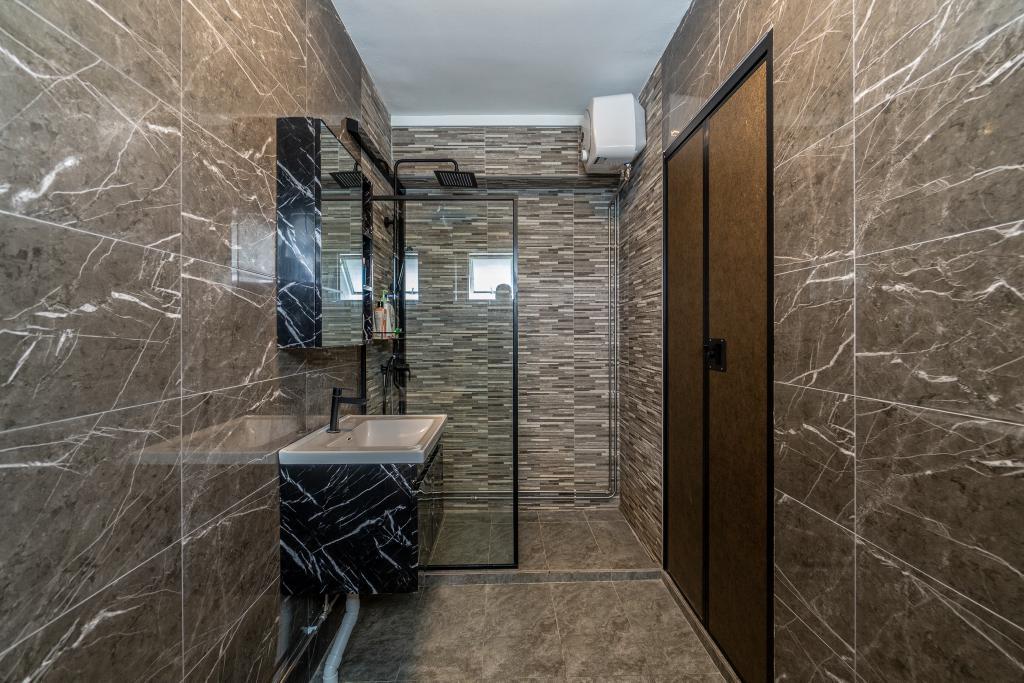 Modern, HDB, Bathroom, Tampines Street 43, Interior Designer, Absolook Interior Design, Industrial