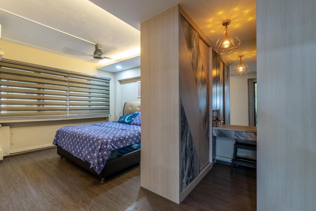 Modern, HDB, Bedroom, Tampines Street 43, Interior Designer, Absolook Interior Design, Industrial
