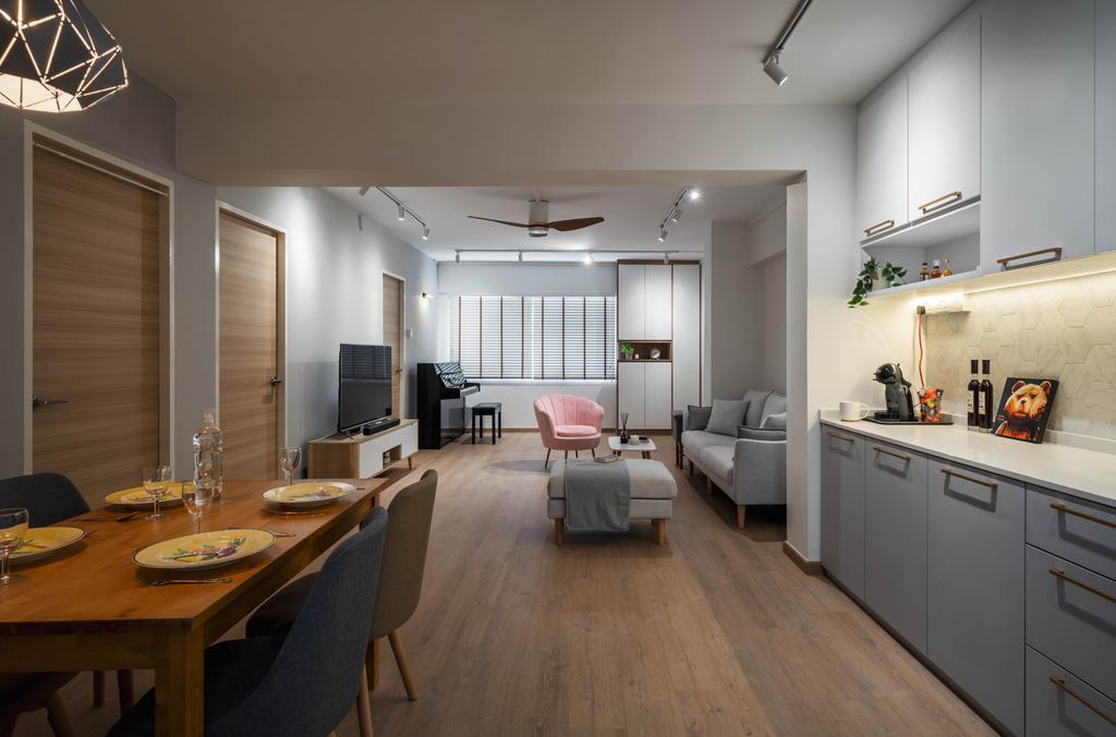 Scandinavian, HDB, Living Room, Choa Chu Kang Central, Interior Designer, Zenith Arc