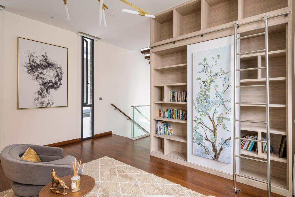 Modern, Landed, Study, Dunsfold Drive, Interior Designer, The I-Plan Studio, Scandinavian