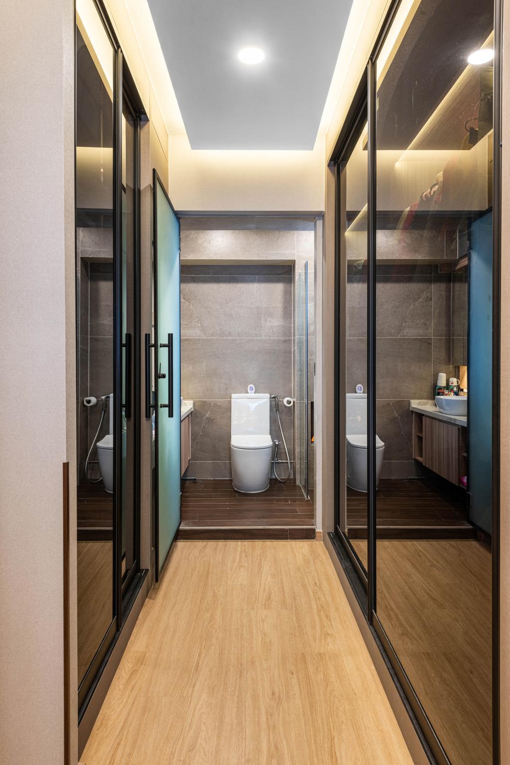 Modern, HDB, Bathroom, Boon Lay Drive, Interior Designer, Mr Designer Studio