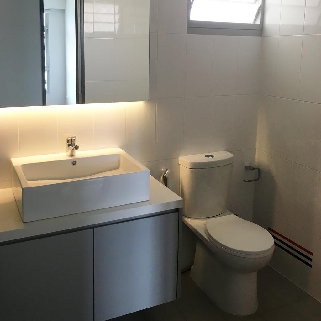 Modern, HDB, Bathroom, Sumang Walk, Interior Designer, Ngieng Spatial Design, Contemporary