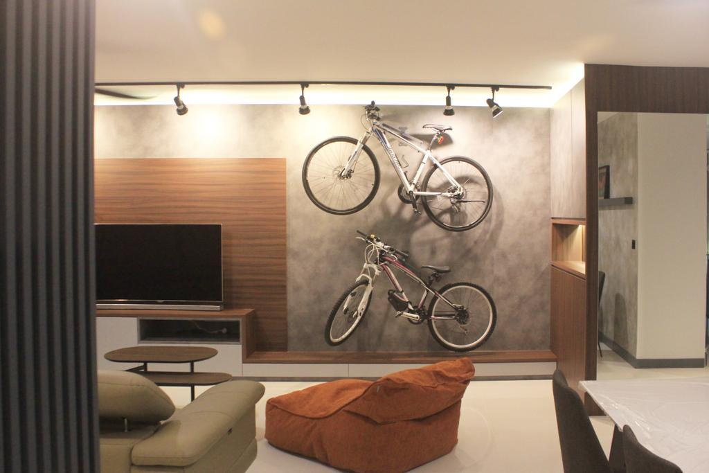 Modern, HDB, Living Room, Sumang Walk, Interior Designer, Ngieng Spatial Design, Contemporary