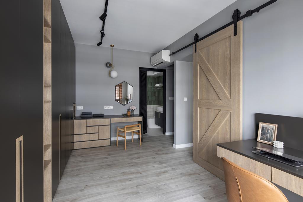 Modern, HDB, Study, Tampines GreenView, Interior Designer, Versaform, Scandinavian