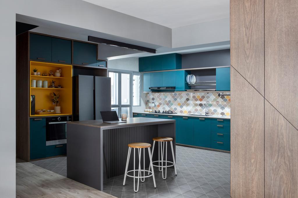 Modern, HDB, Kitchen, Tampines GreenView, Interior Designer, Versaform, Scandinavian