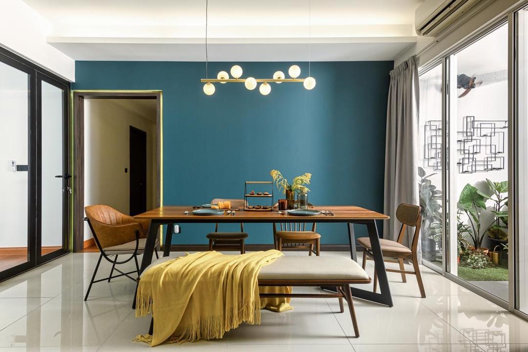 Bukit Utama, Bandar Utama, Interior Hunters Sdn Bhd, Modern, Dining Room, Apartment