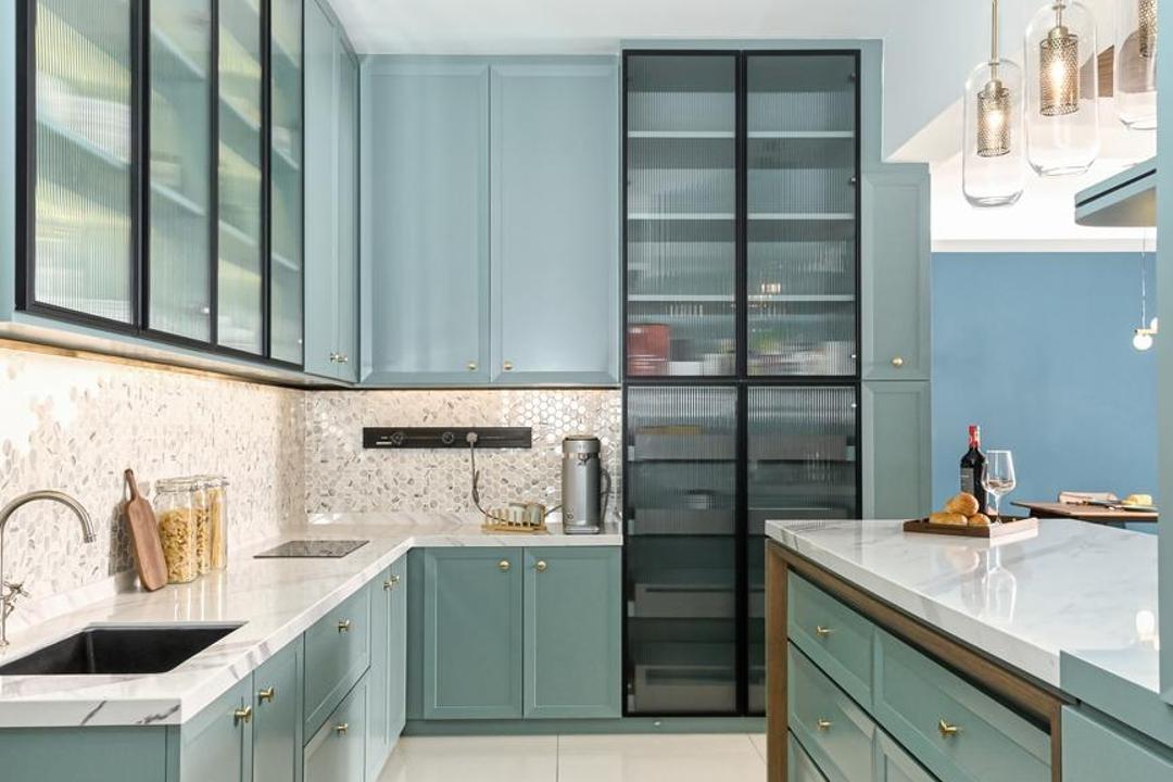 Bukit Utama, Bandar Utama, Interior Hunters Sdn Bhd, Modern, Kitchen, Apartment