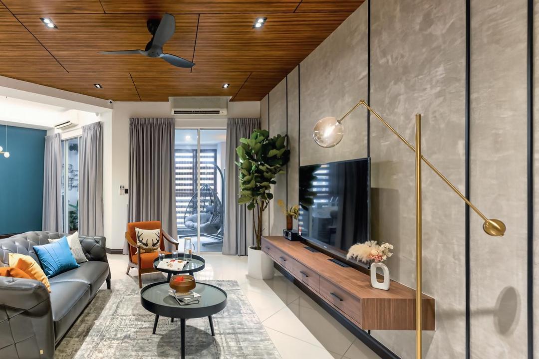 Bukit Utama, Bandar Utama, Interior Hunters Sdn Bhd, Modern, Living Room, Apartment