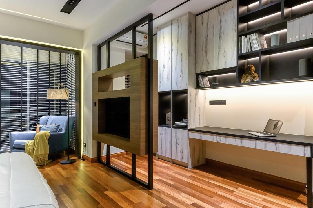 Bukit Utama, Bandar Utama, Interior Hunters Sdn Bhd, Modern, Bedroom, Apartment