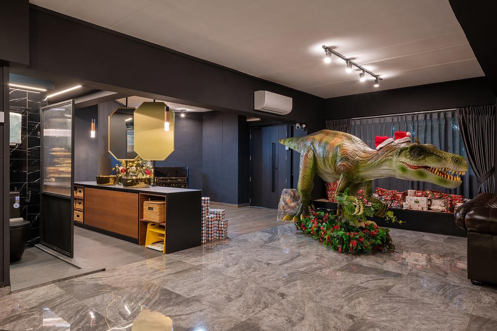 Contemporary, HDB, Living Room, Woodlands Drive 44, Interior Designer, E&S