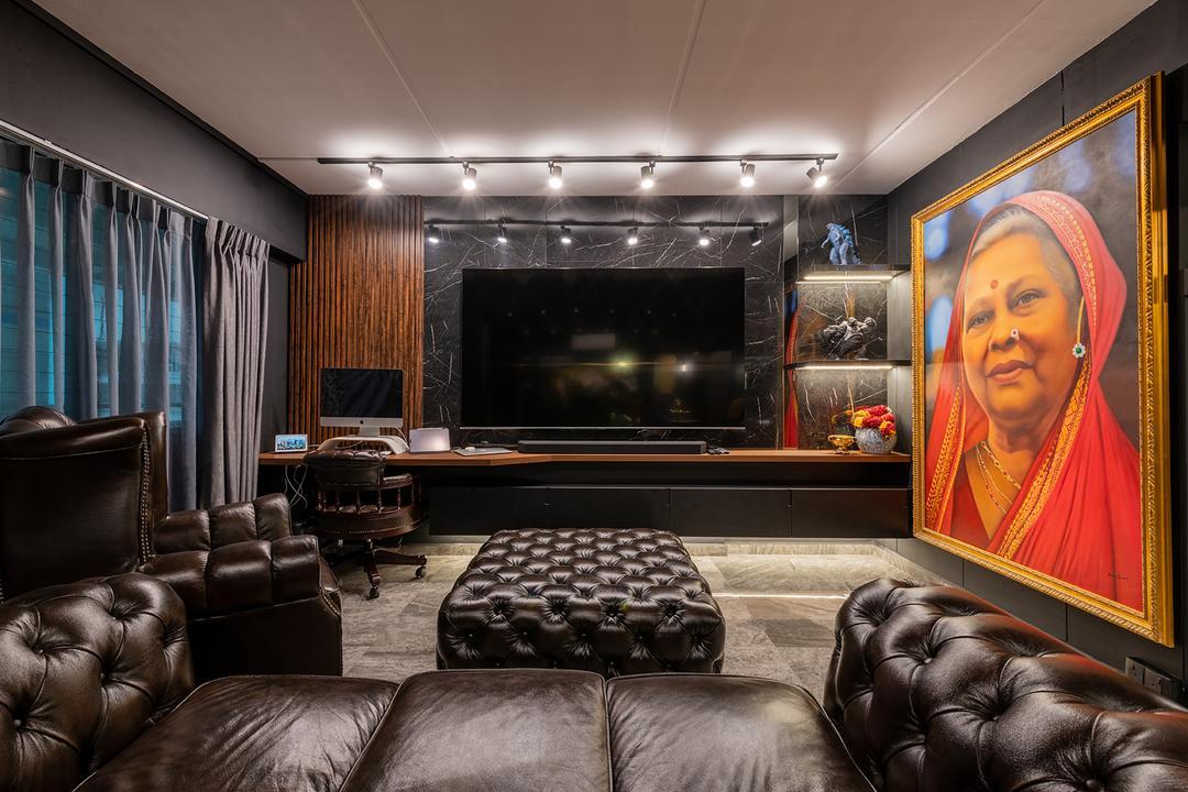 Woodlands Drive 44, E&S, Contemporary, Living Room, HDB