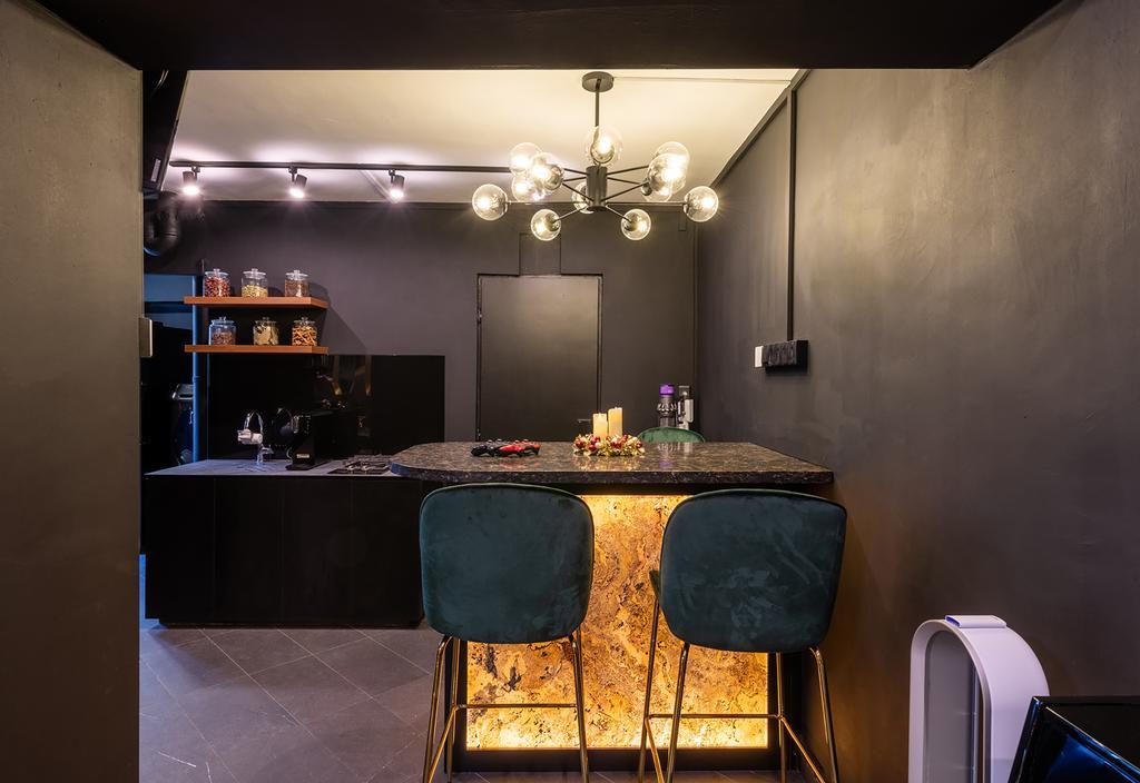 Contemporary, HDB, Kitchen, Woodlands Drive 44, Interior Designer, E&S
