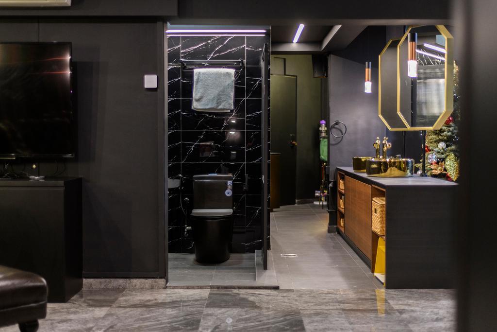 Contemporary, HDB, Bathroom, Woodlands Drive 44, Interior Designer, E&S