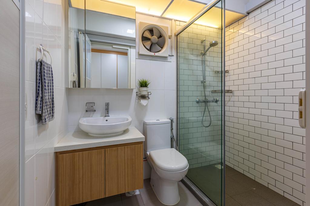 Modern, HDB, Bathroom, Ang Mo Kio Street 51, Interior Designer, Place to Relax