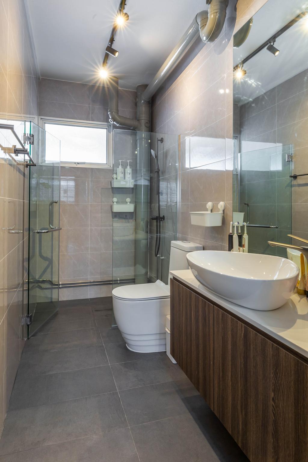 Modern, HDB, Bathroom, Tampines Avenue 5, Interior Designer, The I-Plan Studio, Scandinavian