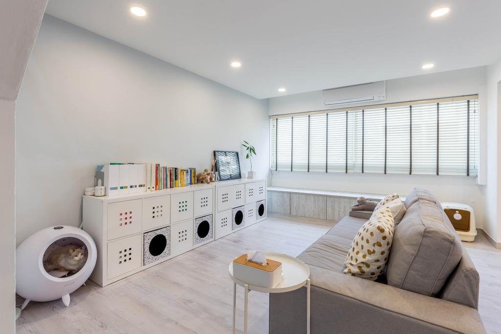 Modern, HDB, Living Room, Tampines Avenue 5, Interior Designer, The I-Plan Studio, Scandinavian