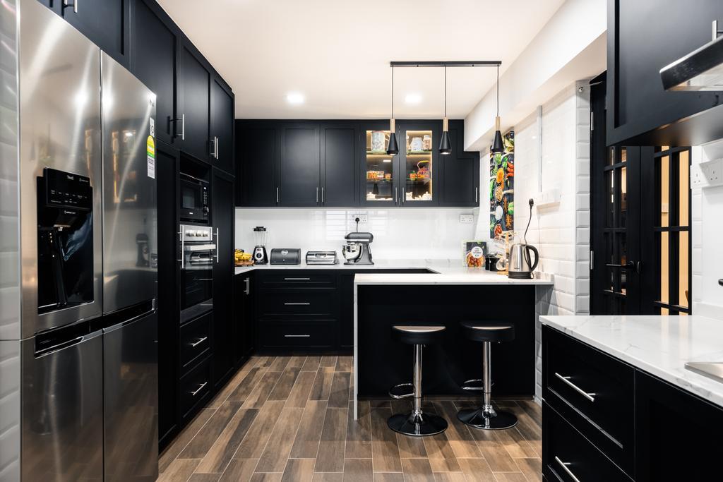 Modern, HDB, Kitchen, Woodlands Street 83, Interior Designer, U-Home Interior Design