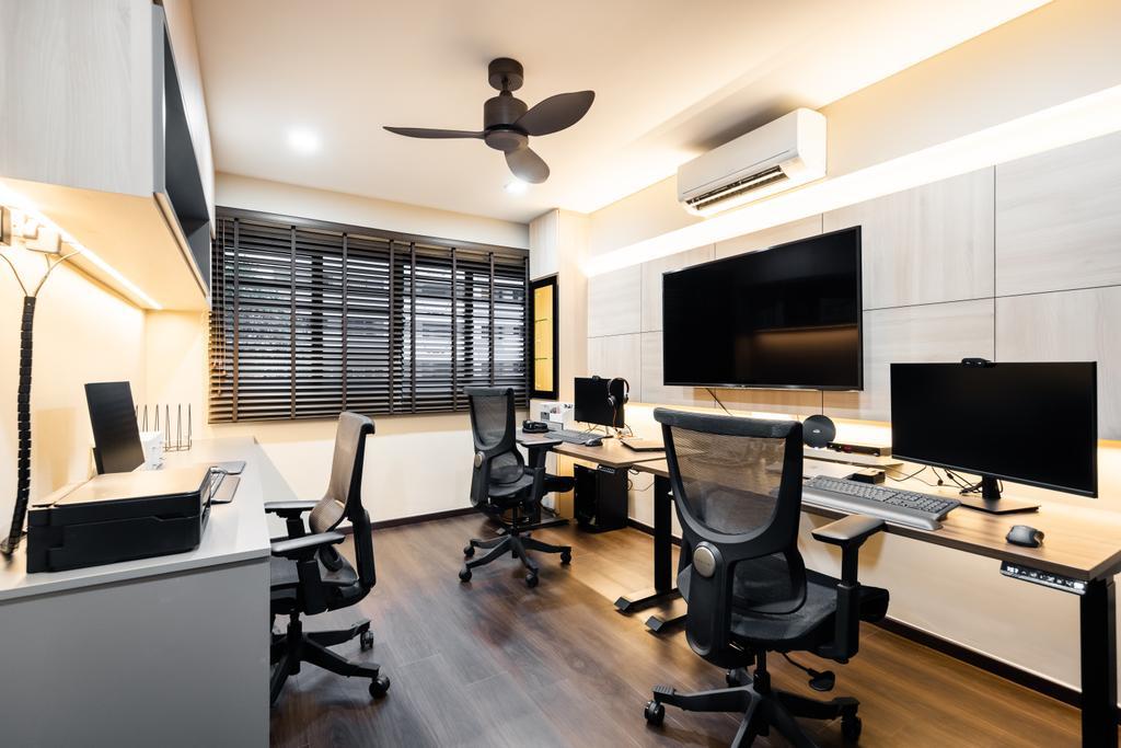 Modern, HDB, Study, Woodlands Street 83, Interior Designer, U-Home Interior Design