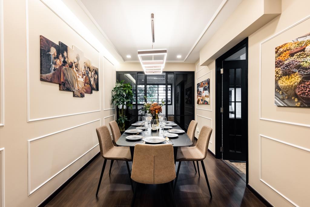Modern, HDB, Dining Room, Woodlands Street 83, Interior Designer, U-Home Interior Design