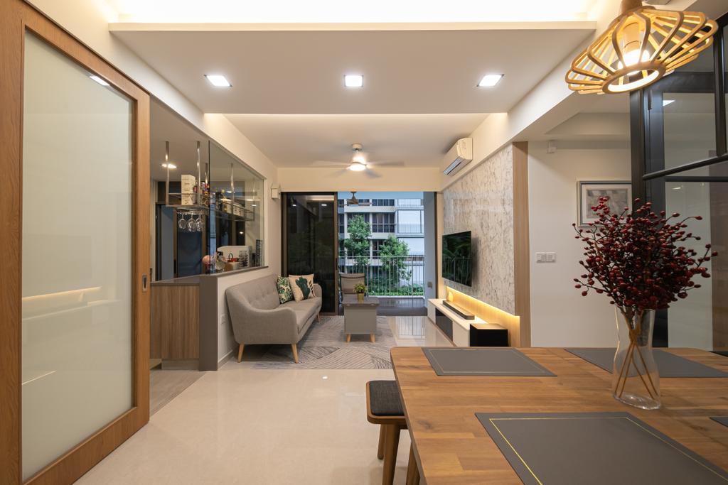 Modern, Condo, Dining Room, Rivercove Residences, Interior Designer, Space Atelier