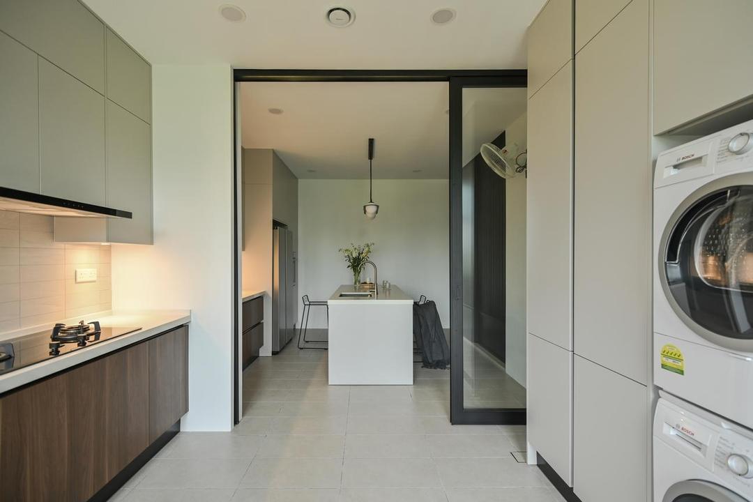 Eco Sanctuary, Kota Kemuning, Wuuu Studio, Contemporary, Kitchen, Landed
