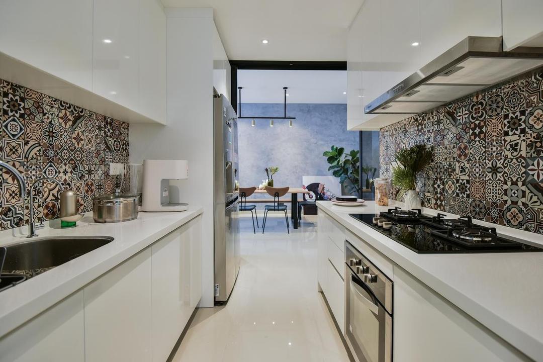 Paloma Residence, Subang Jaya, Wuuu Studio, Contemporary, Kitchen, Condo