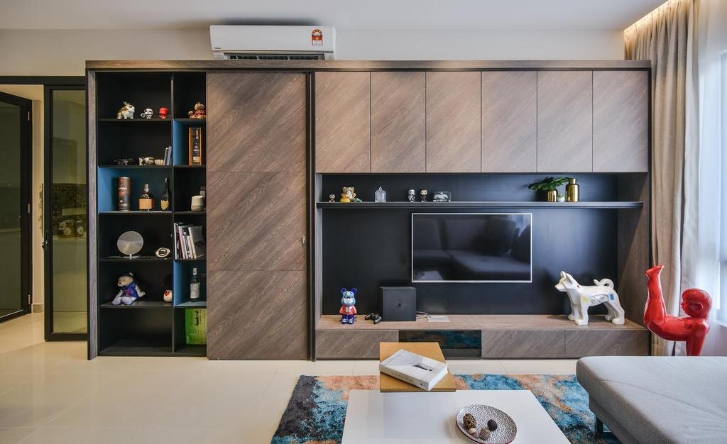 Contemporary, Condo, Living Room, Paloma Residence, Subang Jaya, Interior Designer, Wuuu Studio