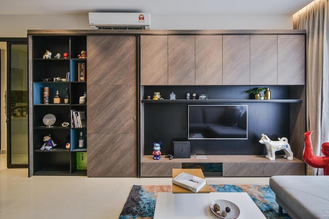 Paloma Residence, Subang Jaya, Wuuu Studio, Contemporary, Living Room, Condo