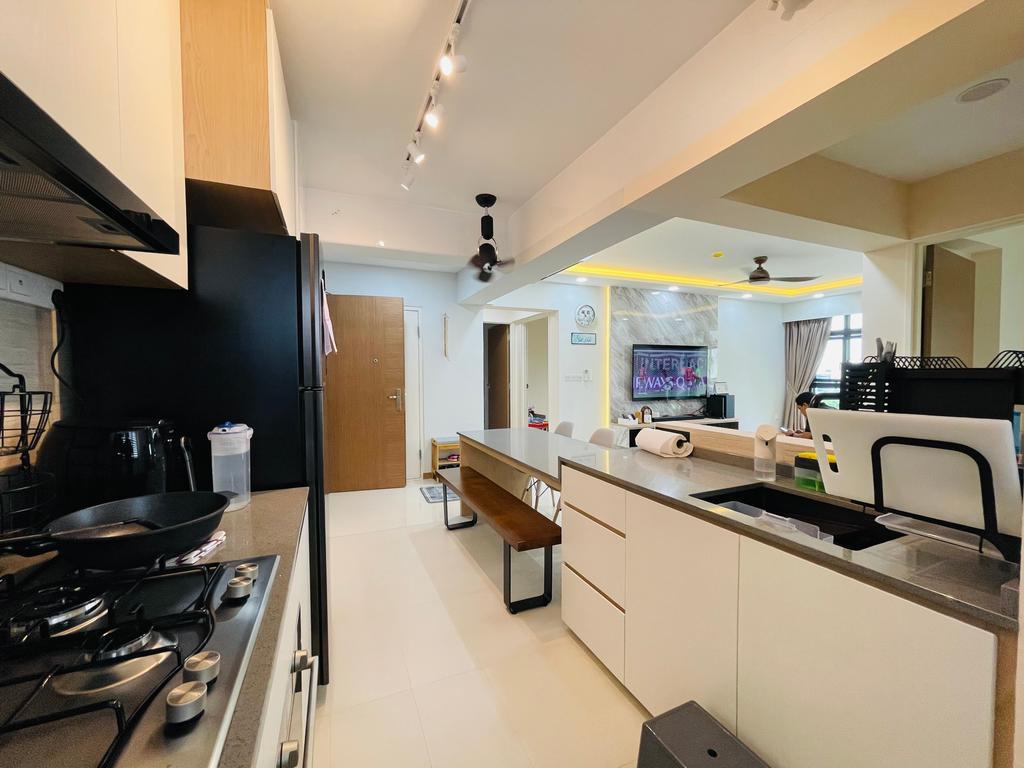 Modern, HDB, Kitchen, Bidadari Park Drive, Interior Designer, Des & Co Interior