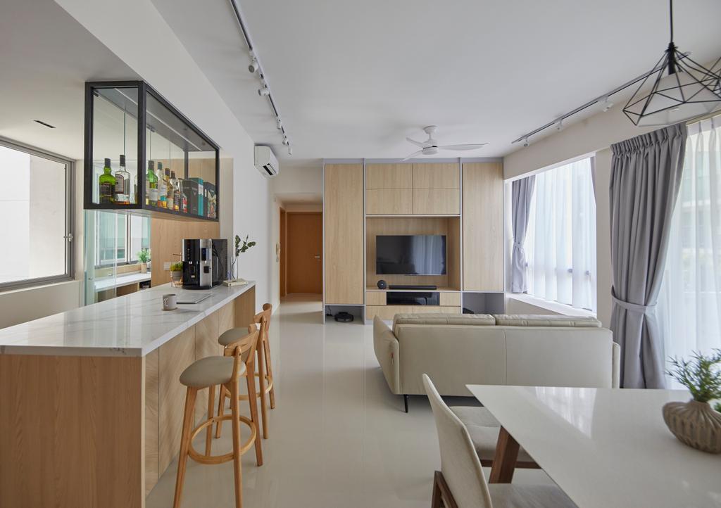 Modern, Condo, Living Room, One North Residences, Interior Designer, The Interior Lab, Minimalistic