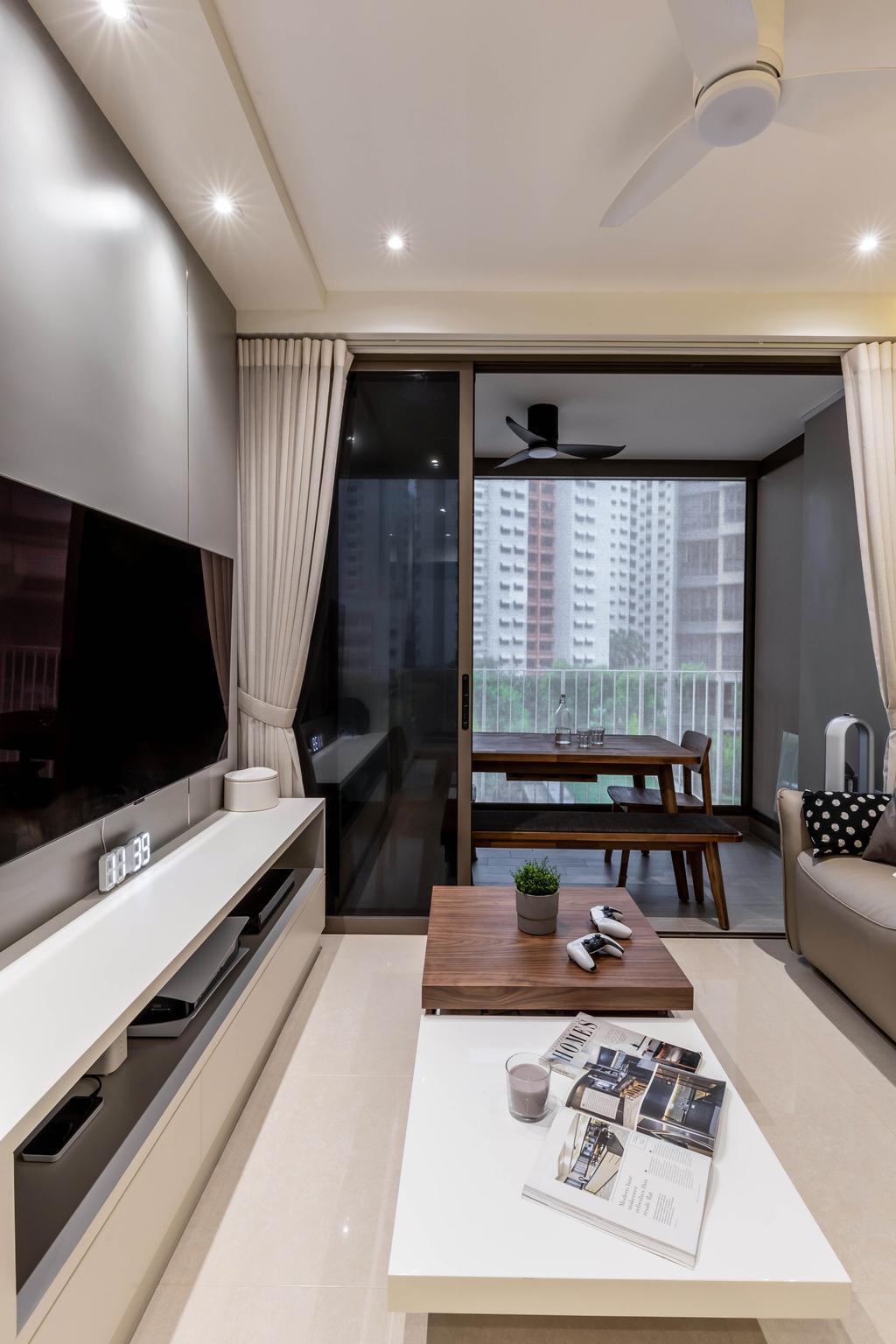 Contemporary, Condo, Living Room, Rivercove Residences, Interior Designer, Yang's Inspiration Design