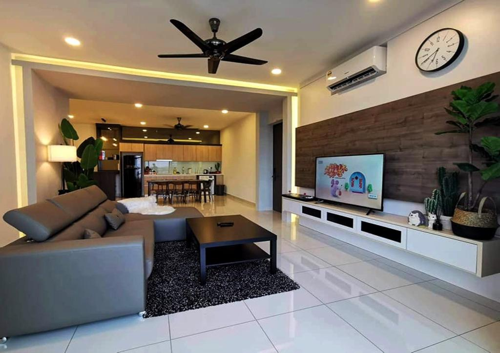 Scandinavian, Condo, Living Room, Green Haven, Masai Johor, Interior Designer, Sheng Renovation Works Sdn Bhd