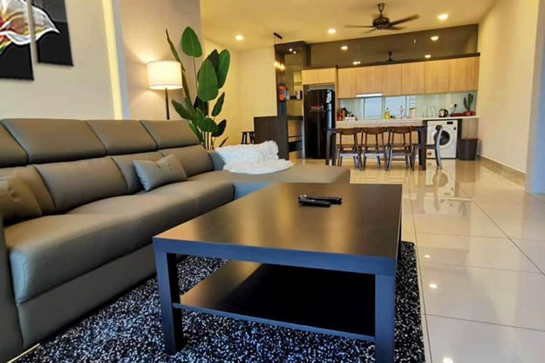 Green Haven, Masai Johor, Sheng Renovation Works Sdn Bhd, Scandinavian, Living Room, Condo