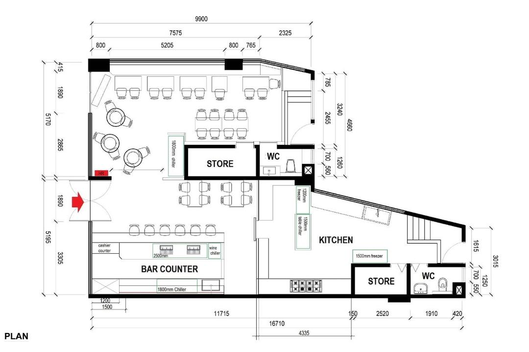 Springside Green, Inizio Atelier, Industrial, Contemporary, Commercial, Commercial Floorplan