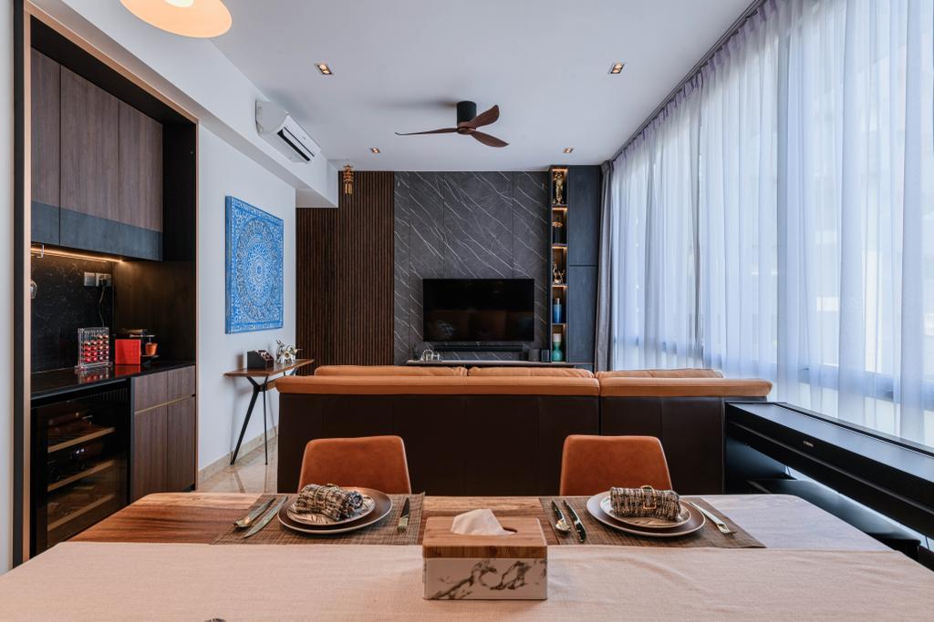Contemporary, Condo, Living Room, Ten @ Suffolk, Interior Designer, Posh Home