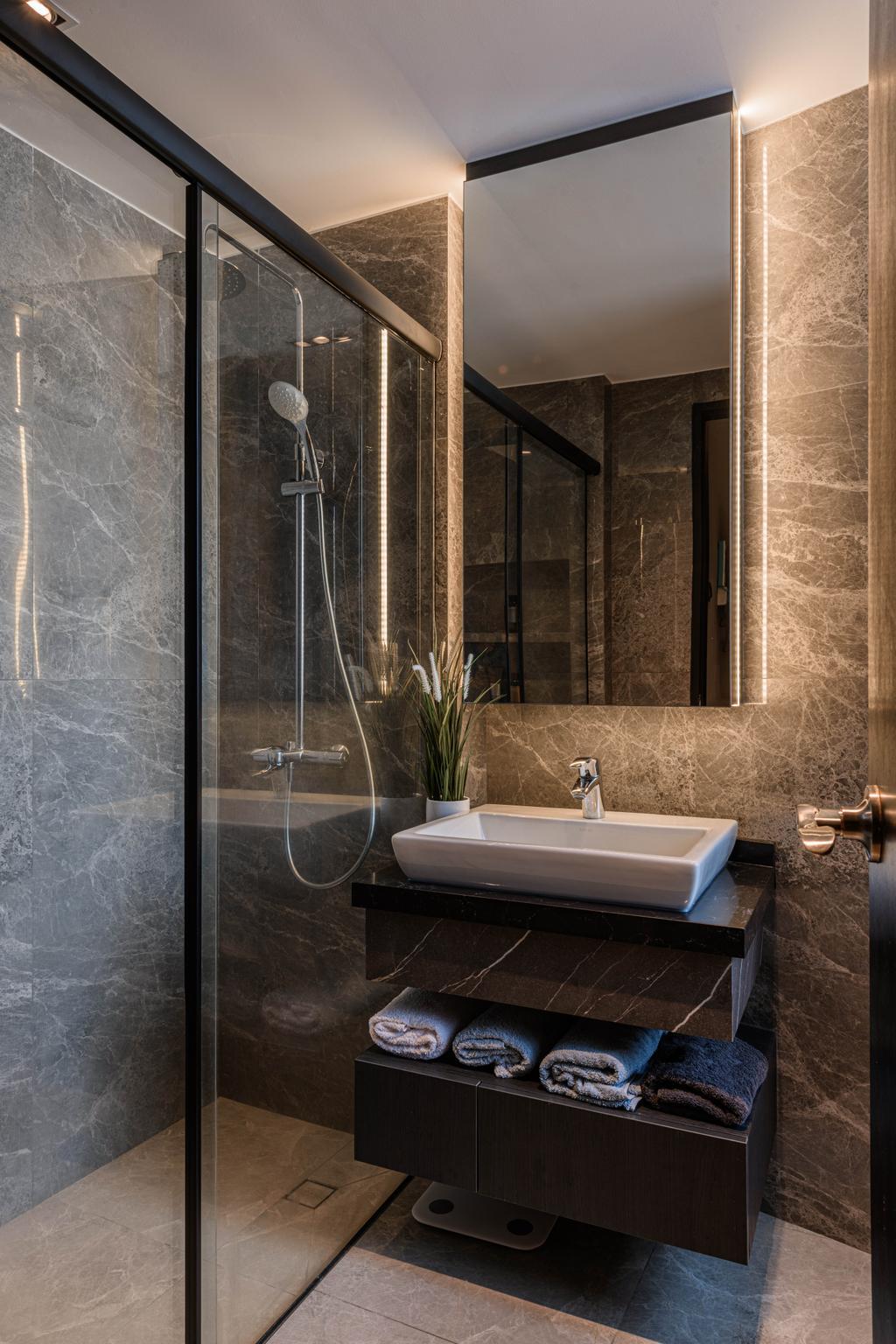 Contemporary, Condo, Bathroom, Ten @ Suffolk, Interior Designer, Posh Home