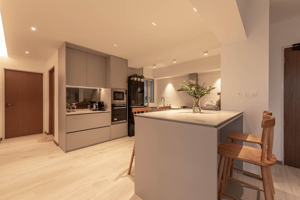 Scandinavian, HDB, Kitchen, Ang Mo Kio Street 23, Interior Designer, Swiss Interior Design