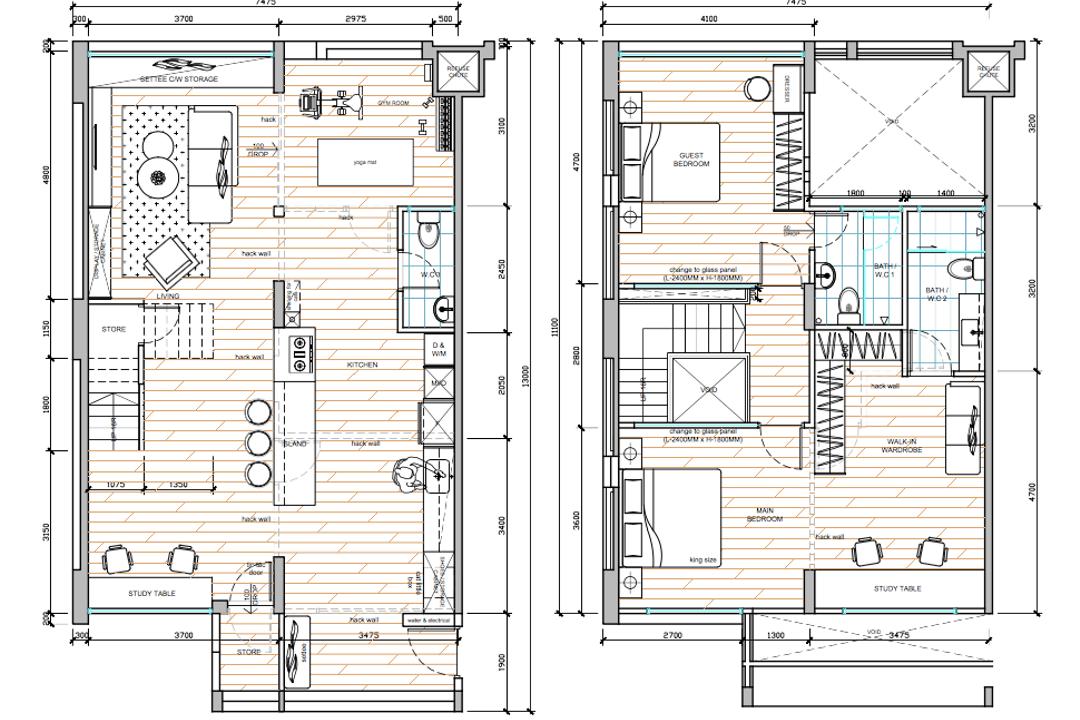 Tampines Avenue 5, The I-Plan Studio, Modern, Scandinavian, HDB, Executive Maisonette Floorplan