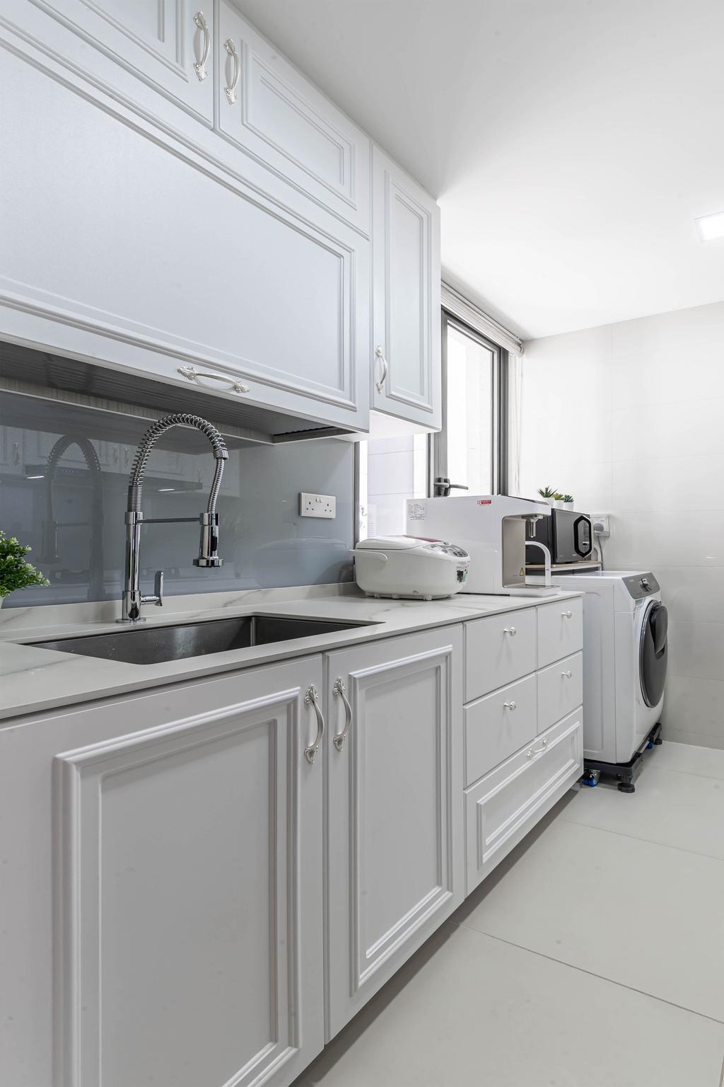 Contemporary, Condo, Kitchen, Twin Waterfalls, Interior Designer, Swiss Interior Design
